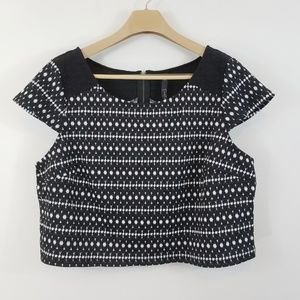 Jessica Simpson Crop Top | Textured Zip Back XXL